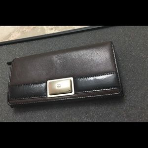 New Kate Spade Large Leather Wallet w/Turn-lock